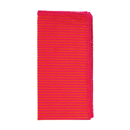 Seersucker Napkins - Pink/Orange, Four