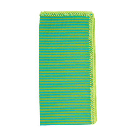 Seersucker Napkins - Turquoise/Lime