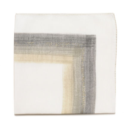 Brushstroke Napkins - White/Grey