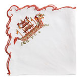 Kim Seybert Dragon Boat Linen Napkins &#124; Gracious Style
