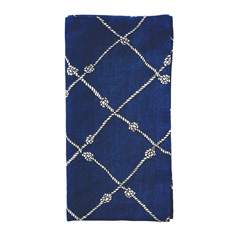 Nautical Knot Napkin - Navy/White