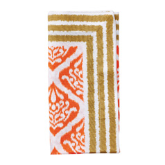 Ethnic Ikat Napkin - Orange/Brown