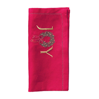 Joy Napkins - Red/Green/Gold, Four