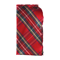 Silk Plaid Napkins - Red/Green/Gold