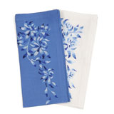 Kim Seybert Shadow Flower Linen Napkins &#124; Gracious Style