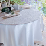 Garnier Thiebaut Appoline White Table Linens &#124; Gracious Style