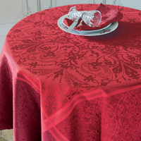 Cassandre Grenat Easy Care Table Linens