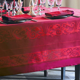 Garnier Thiebaut Comtesse Griotte Table Linens | Gracious Style