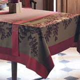Garnier Thiebaut Fougeres Cranberry Table Linens | Gracious Style