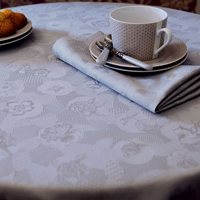 Mille Pensees Perle Table Linens