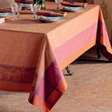 Nymphee Peche Rosee Easy Care Table Linens
