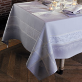Garnier Thiebaut Perce Neige Perle Table Linens | Gracious Style