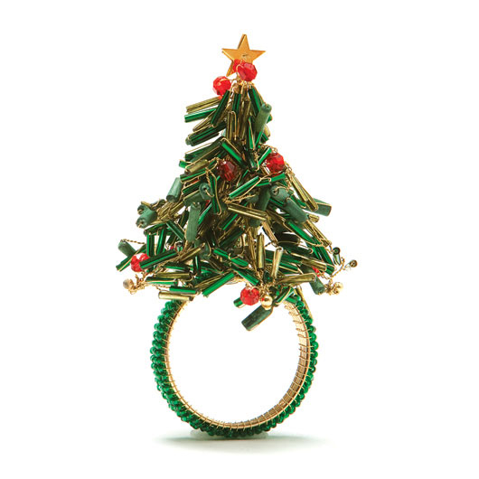 Kim Seybert Christmas Tree Napkin Rings Gracious Style