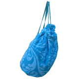 Royal Damask Aqua Marine Nomad Bag by Fresco | Gracious Style