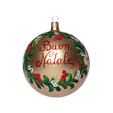 2012 Buon Natale Gold Ball Ornament