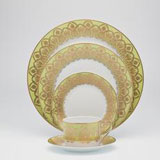 Royal Limoges Oasis Green Dinnerware | Gracious Style