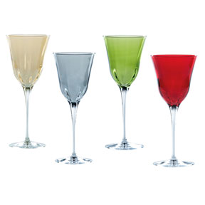 Optical Colored Glassware by Vietri | Gracious Style