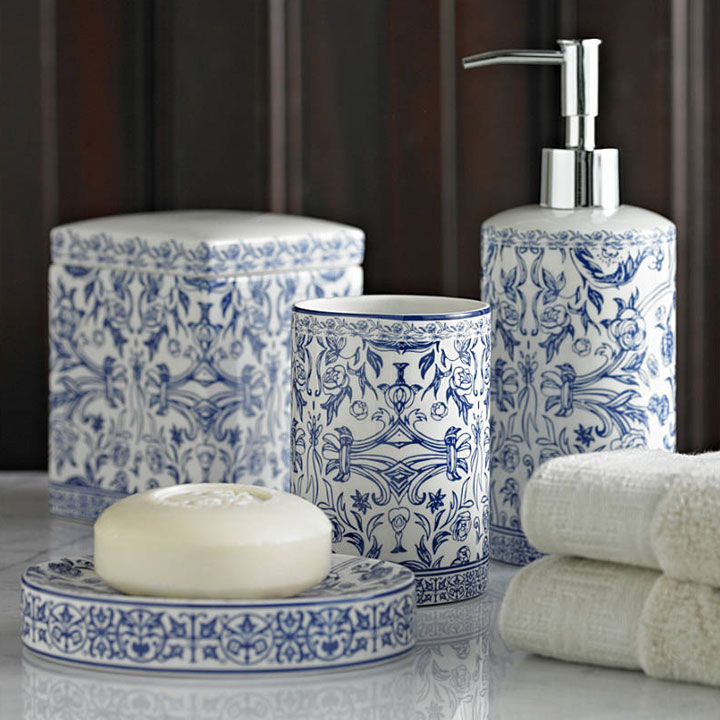 home bath bath accessories orsay blue bath accessories
