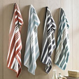 Kassatex Oxford Stripe Bath Towels | Gracious Style
