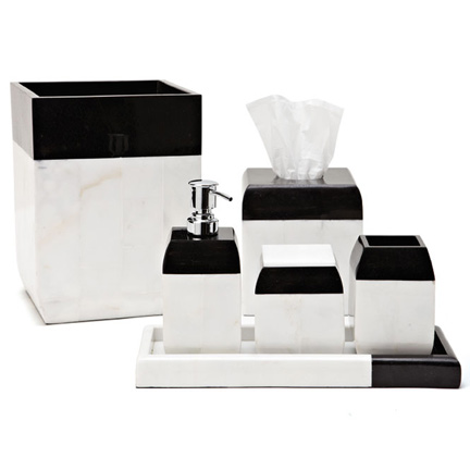 Black and white bathroom accessories for White bath accessories sets
