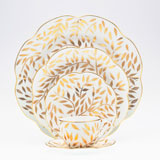 Olivier gold 5 Piece Place Setting size | Gracious Style
