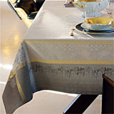 Garnier Thiebaut Perce Neige Plume Table Linens &#124; Gracious Style