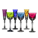 Varga Printemps Colored Crystal Stemware | Gracious Style