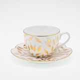 Olivier gold Tea cup 6.75oz | Gracious Style