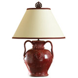 Large Shiraz Red Lamp by Vietri | Gracious Style