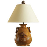Large Amber Lamp by Vietri | Gracious Style