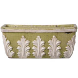 Pistachio Rectangle Terra Cotta Planter by Vietri | Gracious Style
