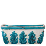 White Rectangle Terra Cotta Planter by Vietri | Gracious Style
