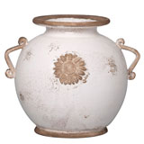 White Round Vase by Vietri | Gracious Style
