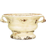 Rustic Garden Cream Low Planter Terra Cotta | Gracious Style