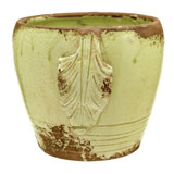 Pistachio Leaves Cachepot by Vietri | Gracious Style