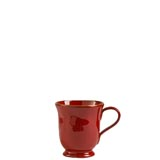 Rosso Vecchio Red Footed Mug | Gracious Style