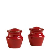Rosso Vecchio Red Salt & Pepper Shakers | Gracious Style