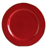 Rosso Vecchio Red Service Plate/Charger | Gracious Style