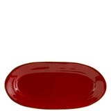 Rosso Vecchio Red Small Oval Platter | Gracious Style