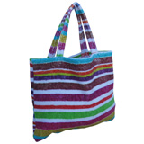 Rainbow Stripes Small Terry Tote Bag by Fresco | Gracious Style