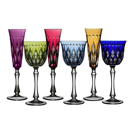 Renaissance Colored Crystal Stemware by Varga | Gracious Style