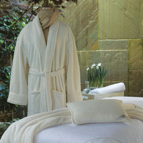 Resort Plush Bath Robe by Peacock Alley  &#124; Gracious Style