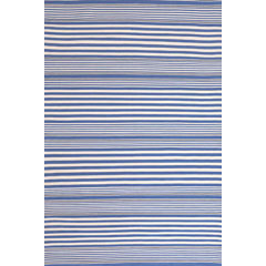 Rugby Stripe Denim Indoor/Outdoor Rug | Gracious Style