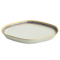 Chinoise Blue Oval Tray  | Gracious Style