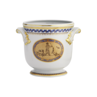 Chinoise Blue Cachepot Small 6 X 6 In | Gracious Style