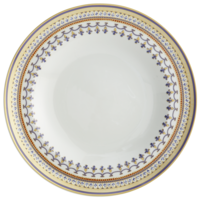Chinoise Blue Rim Soup Plate  | Gracious Style