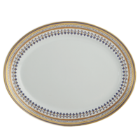 Chinoise Blue Oval Platter 14 In | Gracious Style