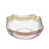 Chinoise Blue Small Square Bowl 6.5 In | Gracious Style