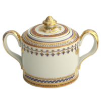 Chinoise Blue Sugar Bowl 5 In | Gracious Style