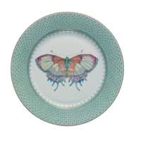Green Lace Dessert Plate (Butterfly) 8.5 in | Gracious Style
